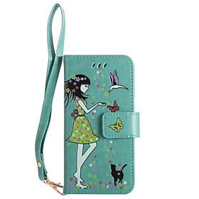 Per la cassa di cuoio del sacchetto del telefono di iphone 7plus 7 caso di cuoio e modello del gatto cassa luminosa del telefono 6s più 5950940