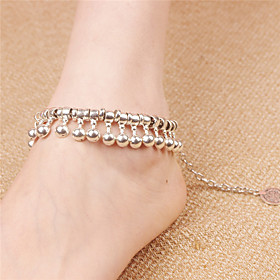 Women's Anklet/Bracelet Alloy Vintage Bohemian Drop Silver Women's Jewelry For Daily Casual 1pc 5894681