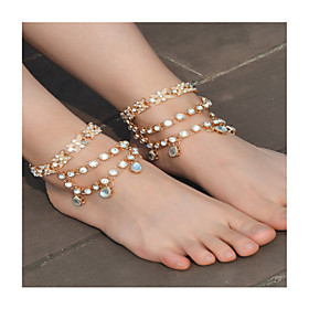 Women's Anklet/Bracelet Imitation Pearl Rhinestone Alloy Fashion Bowknot Jewelry For Daily Casual 1 pcs 5894692