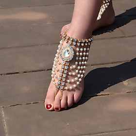 Women's Anklet/Bracelet Imitation Pearl Rhinestone Alloy Vintage Drop Silver Gold Women's Jewelry For Daily Casual 1pc 5894683