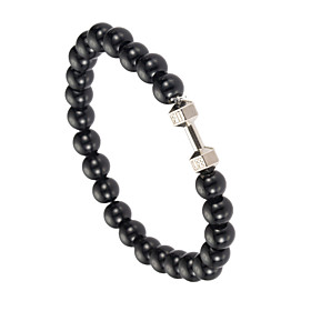 Men's Strand Bracelet - Pearl, Imitation Pearl, Gray Pearl Natural, Fashion Bracelet White / Black For Special Occasion Gift Sports / Black Pearl