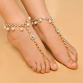 Women's Anklet/Bracelet Imitation Pearl Rhinestone Alloy Fashion Drop Jewelry For Daily Casual 1 pcs 5894715