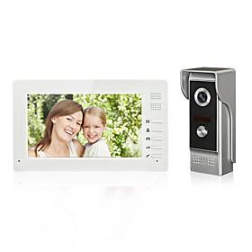 7inch Color Hands Free Video Door phone  Intercom System Doorbell One Monitor with Waterproof Camera