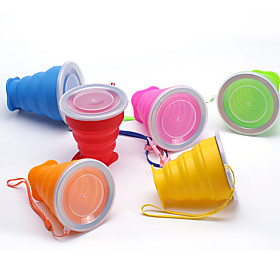 Silicone Folding Cup Daily Folding Cup Silicone Steel Band Portable Water Cup Creative Gift Cup 5878839
