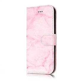 Case For Apple iPhone X / iPhone 8 Wallet / Card Holder / Flip Full Body Cases Marble Hard PU Leather for iPhone X / iPhone 8 Plus / iPhone 8