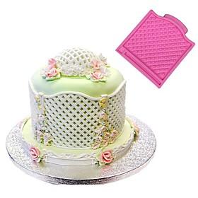 Trellis Fence Basket Silicone Mould Fondant Cake Molds Wedding Decoratings Cupcake Christmas Confeitaria Kitchen Accessories Random Color 6025858