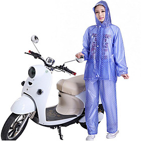 Motorcycle Transparent Blue Point Raincoats Trousers Split Suit Adult Personality Thick 6012814