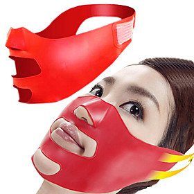 Novelty Silicone V Face Slimmer Cheek Lift Up Thin Massage Mask Facial Slimming Contour Shaper Anti Nasolabial Folds Wrinkle Sag Sleeping Belt Pillow