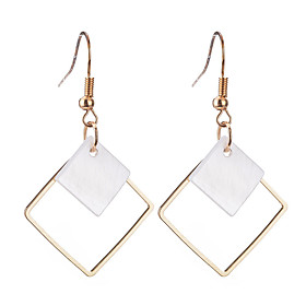 Women's Drop Earrings - Silver Plated, Gold Plated Personalized, Geometric, Dangling Style Gold / Silver For Christmas Christmas Gifts Wedding