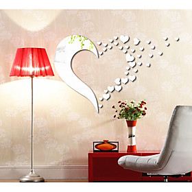 Love Decorates A Wall The Sitting Room The Bedroom The Head Of A Bed Mirror Wall Stickers 6030371