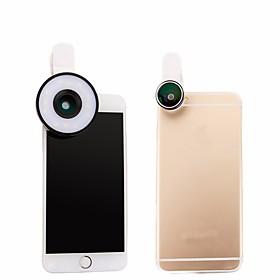 4 i 1 ledet linse klipslampe 185 fisheye 10x makro 0.65x vidvinkel zoomobjektiv til iphone 7 6 5s kamera mobiltelefon linser 6029230