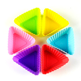 12pcs/lotMixed color Silicone Muffin Cup Cupcake Mold  Form Durable Jelly Soap DIY Bake Cake Pan Molds Bakeware Baking Pastry 6034107