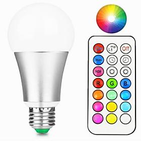 1pc 10 W 800 lm E26 / E27 LED Smart Bulbs A60(A19) 1 LED Beads Integrate LED Dimmable / Remote-Controlled / Decorative RGBW / RGBWW 85-265 V / 1 pc / RoHS