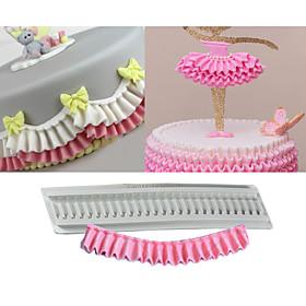 Pleated Silicone Mould Ruffle Border Fondant Cake Silicone Mold Confeitaria Cupcake Decorating Tools DIY Random Color 6041595