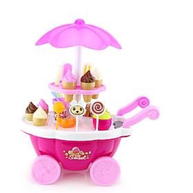 Ice Cream Cart Toy Toy Car Toy Food / Play Food Ship Ice Cream Simulation Plastics Plastic Kid's Boys' Girls' Toy Gift 1 pcs