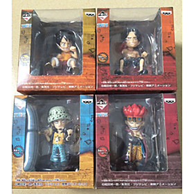 Anime Action Figures Inspired by One Piece Monkey D. Luffy PVC 7 CM Model Toys Doll Toy 1set 6001250