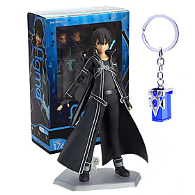 Anime Action Figures Inspired by Sword Art Online Kirito PVC 14 CM Model Toys Doll Toy 6001955