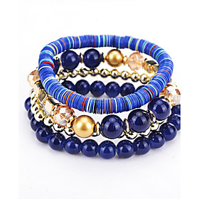 Women's Strand Bracelet Natural Fashion Bohemian Balance of the Power Multi Layer Plastics Round Jewelry For Birthday Party/ Evening 6002128