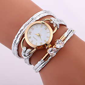 wholesale stylish lady weave leather watch rope braided crystal clock designer wrap around watch with diamond for lady 6002843