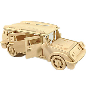 Toy Car 3D Puzzles Jigsaw Puzzle Wood Model Plane / Aircraft Car 3D DIY Wood Classic SUV Boys' Unisex Gift 6052912