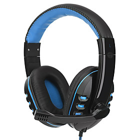 SY733MV Headband Wired Headphones Dynamic Plastic Gaming Earphone with Microphone / Stereo Headset 6045485