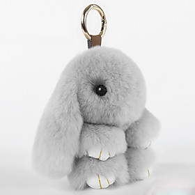 Bag / Phone / Keychain Charm Cartoon Toy Rex Rabbit Fur Cell Phone Charms 6045898