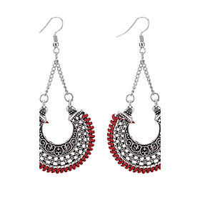 Women's Chandelier Drop Earrings - Vintage, Fashion, Euramerican Dark Blue / Red / Light Green For Daily