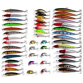 48 pcs Hard Bait Minnow Lure kits Fishing Lures Hard Bait Minnow Lure Packs g / Ounce mm inch, Plastics Bait Casting Bass Fishing Lure 6068664