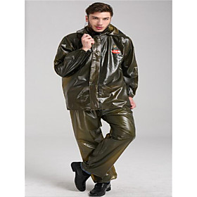 Motorcycle Body Raincoat Plastic Seaweed Thick Adult Motorcycle Raincoat Trousers Suit 6012816