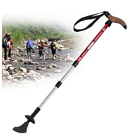 4 Sections Trekking Poles / Nordic Walking Poles / Multifunction Walking Poles 110cm (43 Inches) Damping / Adjustable Length / Easy Lock