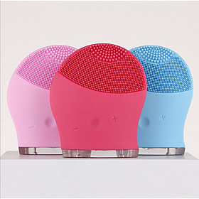 Makeup Deep Pores Cleaning Electric Waterpoof Silicone Sonic Vibration Facial Wash Brush Cleaner Cleanser Beauty Massager Color Random 6166695