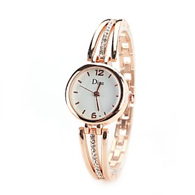 Women's Wrist Watch Simulated Diamond Watch Quartz Silver / Gold Imitation Diamond Analog Ladies Vintage Casual Fashion Elegant - Gold Silver Gold / Silver One