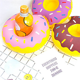 Inflatable Donut Cup Holder Floating Coasters Drink Beverage Holders Pool Party Supplies 6105861
