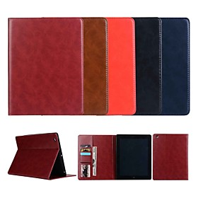 Case For Apple iPad Air 2 / iPad Pro 10.5 / iPad Pro 11'' Wallet / Card Holder / with Stand Full Body Cases Solid Colored Hard Genuine Leather for iPad Air / i