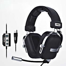 ajazz-ax300 Headband Wired Headphones Dynamic Aluminum Alloy / Fabric / Plastic Gaming Earphone Ergonomic Comfort-Fit / with Volume 6116064