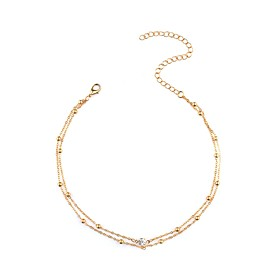 Women's Choker Necklace Imitation Diamond Ladies Personalized Fashion Gold Silver Necklace Jewelry For Daily Casual Date