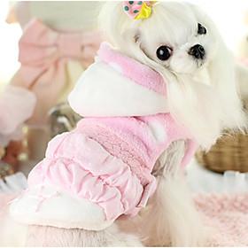 Cachorro Colete Roupas para Cães Algodão Inverno Primavera/Outono Casual Princesa Azul Rosa claro Para animais de estimação 6169276