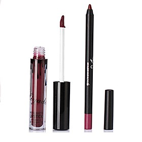 Lip Gloss Lip Line Pen Set Matte Non-Stick Cup Liquid Lip Pen Long-Lasting Waterproof Mouth Red Mute Lips Makeup 6165469