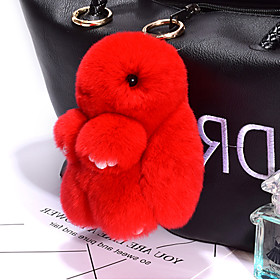 Bag / Phone / Keychain Charm Rabbit Cartoon Toy Rex Rabbit Fur 14CM 6180014
