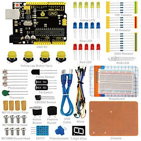 Keyestudio UNO R3 Breadboard kit for Arduino starter with dupont wireLEDresistorPDF 6178268