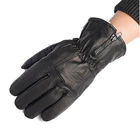 Motorcycle Gloves Leather Gloves Men Winter Sheepskin Thickening Finger Gloves 6150400