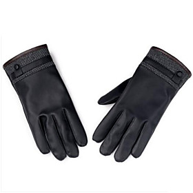 Motorcycle Gloves Autumn And Winter PU Leather Plus Cashmere Gloves Ride Cycling Motorcycle Warm Winter 6150401