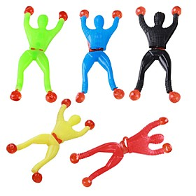 3PCS Climbing Spider Sticky Climbing Wall Superman Nostalgic Toys for Children Kids Funny Toy Slime Viscous Climbing Wall Man Squeeze Ramdon Color 6144146