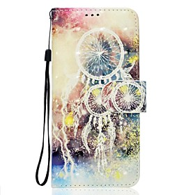 Case For Sony Xperia XA Ultra / Sony / Sony Xperia XA Wallet / Card Holder / with Stand Full Body Cases Dream Catcher Soft PU Leather for Sony Xperia XZ / Sony