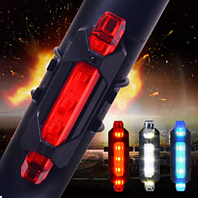 LED Bike Light Rear Bike Tail Light Safety Light Tail Light - Cycling Smart Impact Resistant Anti Slip Other Cell Batteries 15 lm USB Battery Everyday Use Cycl