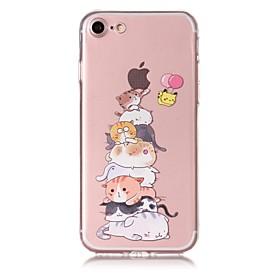 Caso para iphone 7 capa de caso 7plus padrão de gato material de tpu caixa de telefone de alívio resistente a riscos para iphone 6s 6 6117977