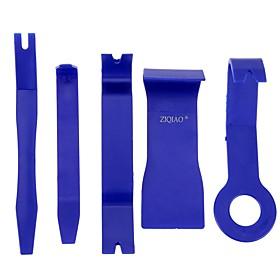 ZIQIAO 5 PCS Blue Color DIY Plastic Car Auto Radio Door Clip Panel Trim Dash Audio Removal Pry Kit Tools