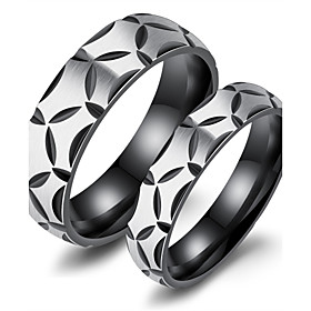 Hot sell ring han edition titanium steel couple ring contracted creative black gray-ring ring for men and women 6150655