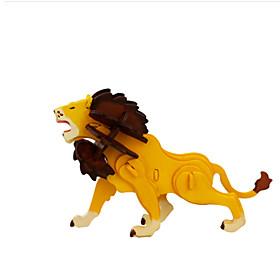Jigsaw Puzzles DIY KIT 3D Puzzles Building Blocks DIY Toys Lion Wooden 6131818