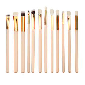 12pcs Makeup Brushes Professional Eyeliner Brush Eyebrow Brush Eyeshadow Brush Concealer Brush Synthetic Hair Eco-friendly / Professional / Full Coverage Wood